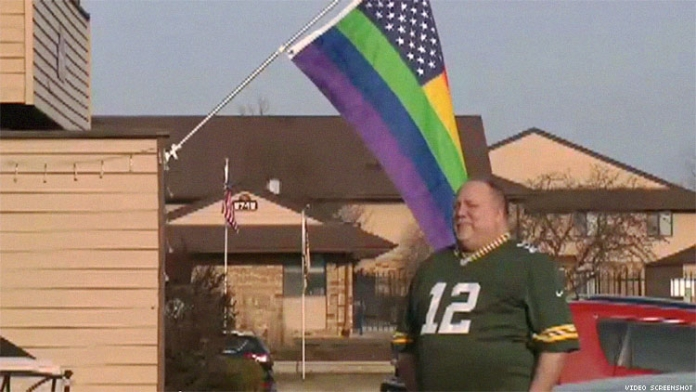 Gay Couple Ordered to Remove Pride Flag or Face Eviction