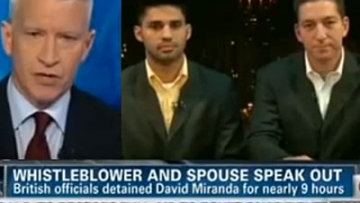 WATCH: Anderson Cooper Interviews Greenwald and Partner