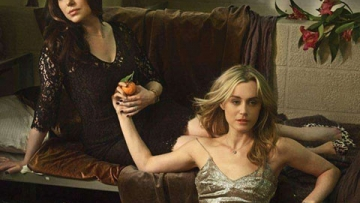 Shot of the Day: Taylor Schilling and Laura Prepon Sizzle for Elle's Orange Is the New Black Spread