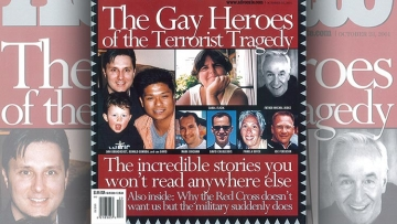 The Advocate September 11 2001 9/11 Cover The Gay Heroes of the Terrorist Tragedy
