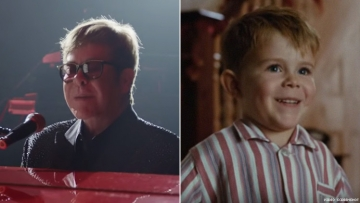 Elton John Christmas Ad Depicts His Life Through His Pianos