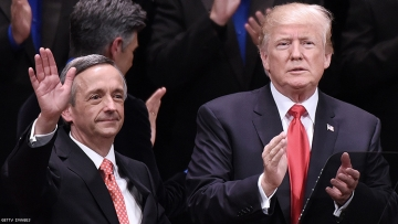 Robert Jeffress with Donald Trump