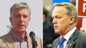 Tom Bergeron and Sean Spicer