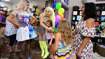 Drag Queen Story Hour at Cellar Door Books in Riverside, California