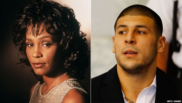 Whitney Houston and Aaron Hernandez