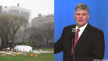 Tent hospital and Franklin Graham