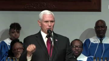Mike Pence at Holy City church