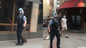 Chicago protest video