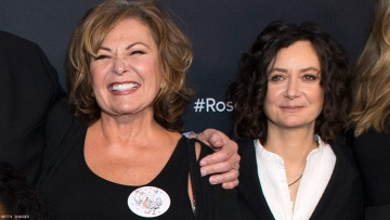 Roseanne Barr and Sara Gilbert