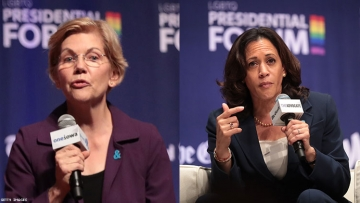 Elizabeth Warren and Kamala Harris