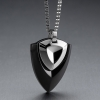 Stainless Steel Black Ionic-Plated Arrowhead Necklace