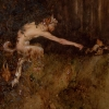A Satyr Chasing Two Imps, by Gustaf Adolf Tenggren