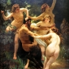 Nymphs and Satyr Pan, 1873, William Bouguereau