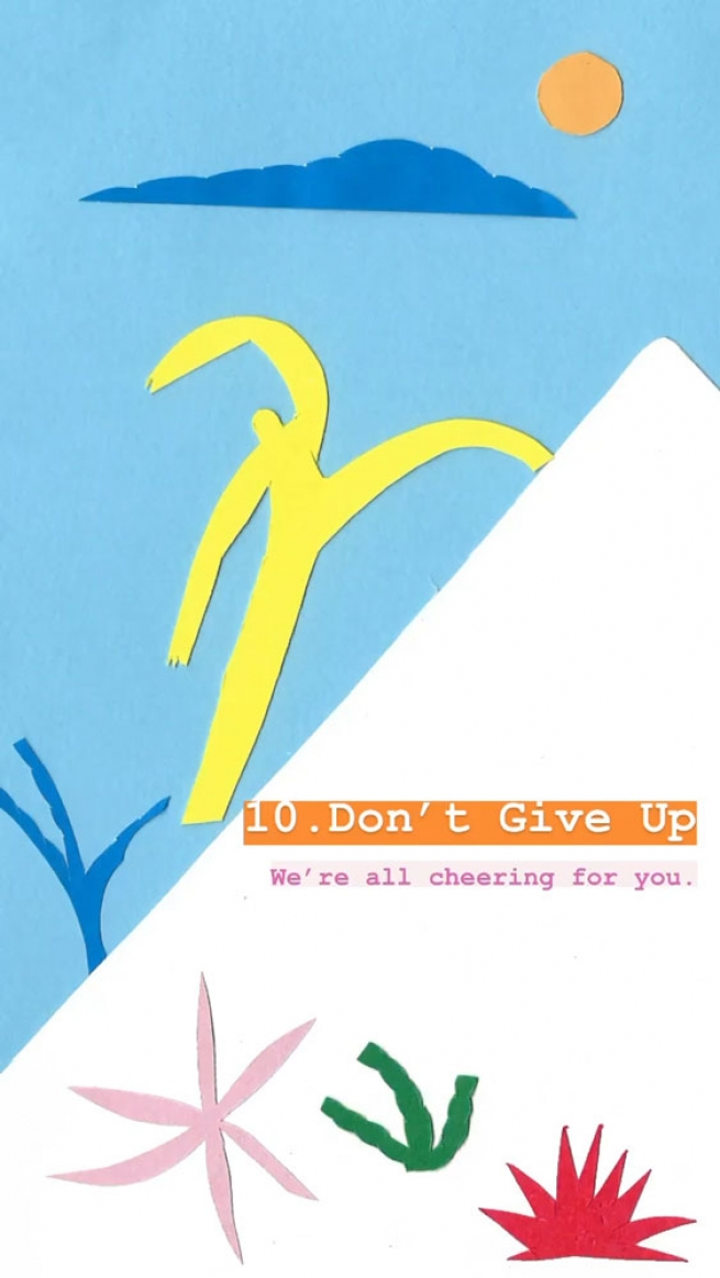 10. Don't give up