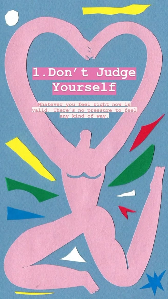 1. Don't judge yourself