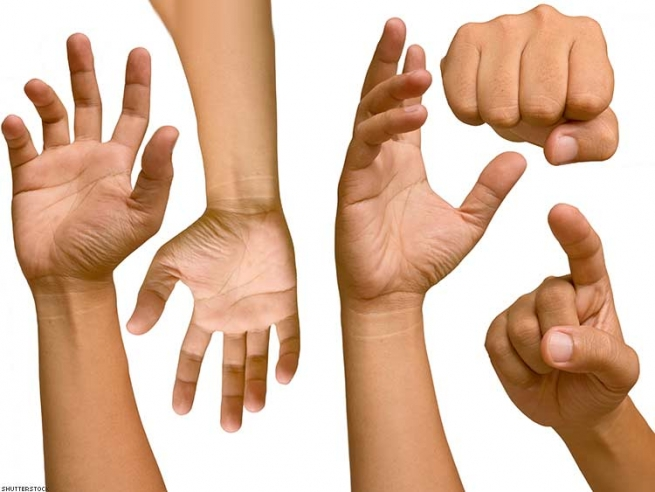 """25. """"Hand tap"""" communication signals — typically used at loud circuit parties and dance clubs."""