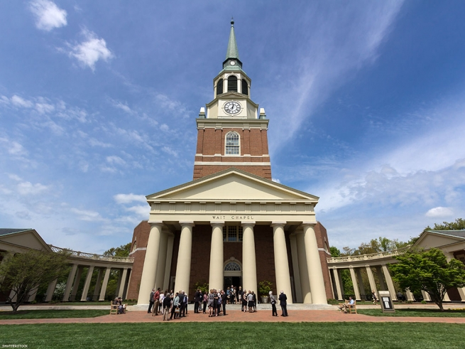 12. Wake Forest University (private, nonsectarian in Winston Salem, N.C.)