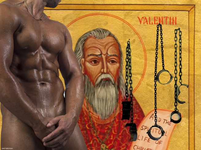 1. Observe the history of Valentine's Day by adding a set of manacles to the bedroom.