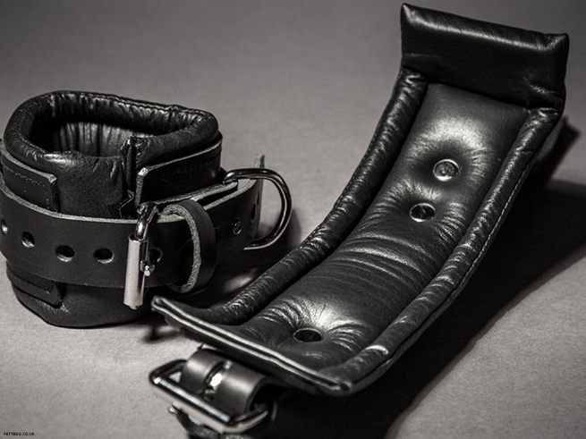 15. Padded leather ankle cuffs.