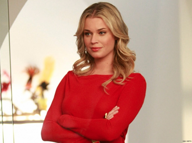 Rebecca Romijn portrays Alexis Meade post-transition in Ugly Betty