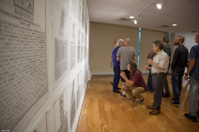 It's not unusual for attendees to take photographs of the rubbings from markers located from around the world.
