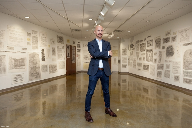 The Gay Rub is a collaborative project created and organized by Steven Reigns (pictured) showcasing a collection of over 300 rubbings from important markers of LGBTQ history.