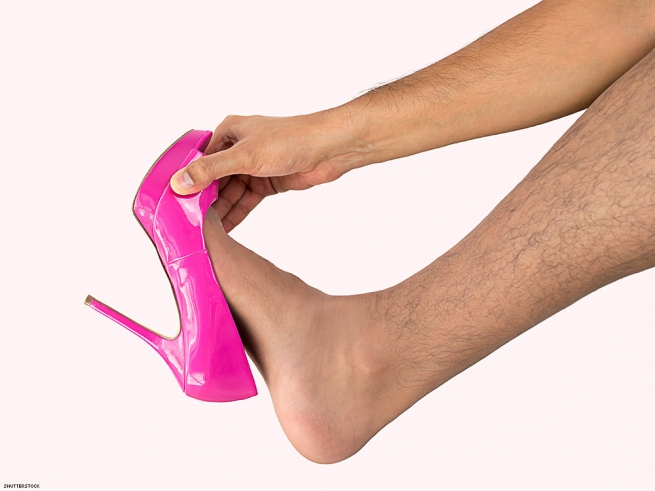 5. Explore forced feminization with high-heeled shoes.