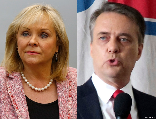 Mary Fallin and Jeff Colyer