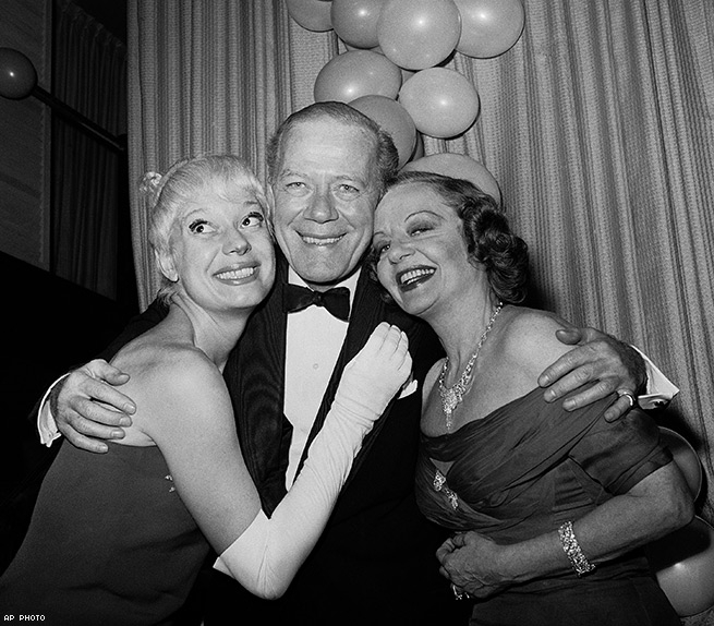 Cyril Ritchard with Tallulah Bankhead and Carol Channing