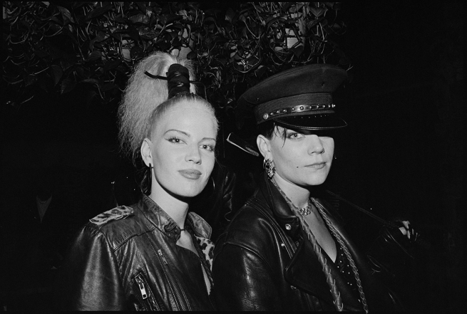 Two Leather Women at the Ms. San Francisco Leather Contest (1991)