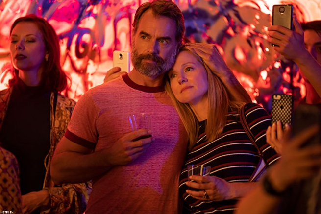 """Murray Bartlett as """"Michael 'Mouse' Tolliver and Laura Linney as Mary Ann Singleton"""