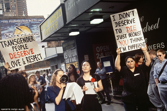 Mariette Pathy Allen, Demonstration over the murder of Amanda Milan, 2000. Courtesy of the artist.