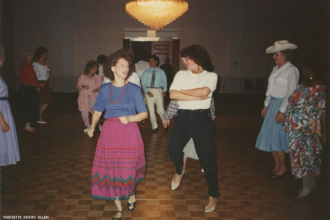 Photo of Mariette Pathy Allen dancing at the International Foundation for Gender Education Conference, 2000. Courtesy of Mariette Pathy Allen.
