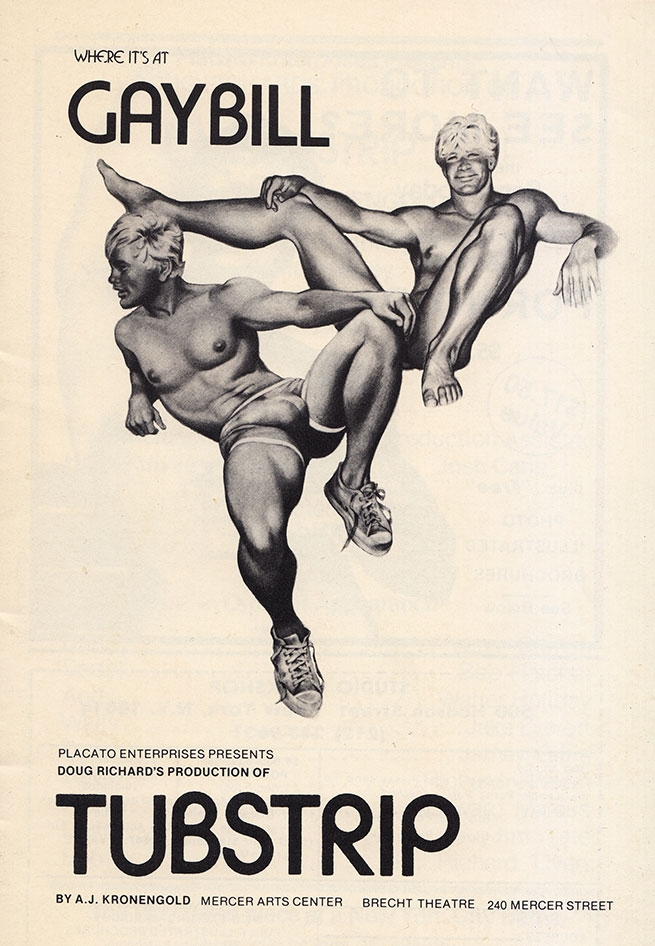 Off-Broadway Playbill (1973). Art attributed to Jim French working as 'Colt'