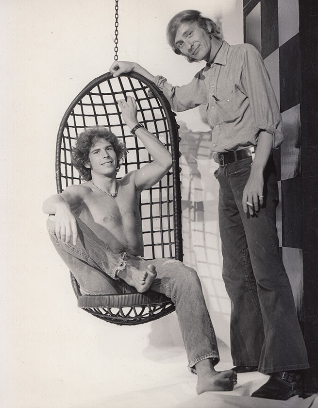 Larry Gilman (Brian) and playwright / director Jerry Douglas (1973). Photographer: unknown.