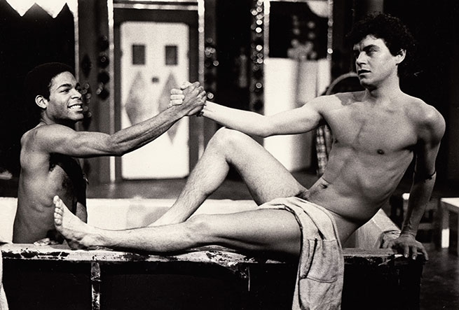 Walter Holiday (Andy) and Ty Yorczek (Darryl) (1974) [Toronto production]. Photographer: unknown.