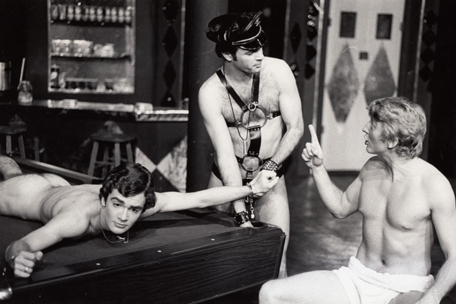 Jeff Layton (Kevin), Gerald Grant (Tony), and John Bruce Deaven (Dusty) (1974) [Toronto production]. Photographer: unknown.
