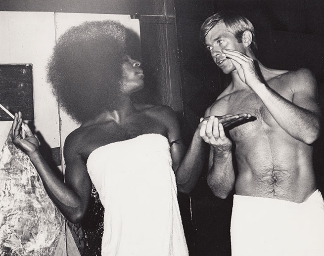 Walter Holiday (Andy) and Dick Joslyn (Bob) (1974) L.A. Photographer: unknown.