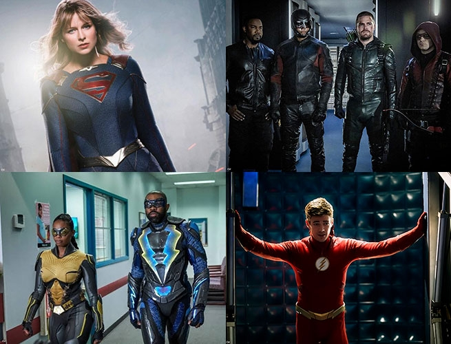 Black Lightning, Supergirl, Arrow, The Flash (Premiering in October on the CW)