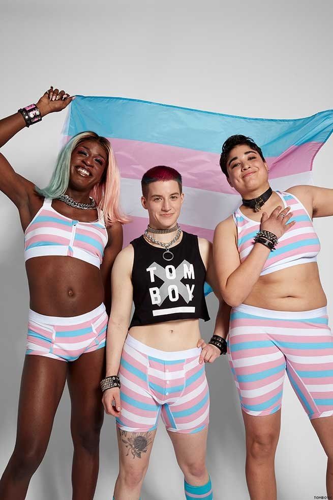 Miles Jai, Theo Germaine, and Trice McKinnon Launch TomboyX's Trans Pride Collection