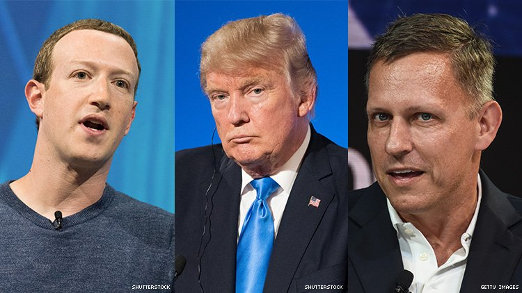Mark Zuckerberg, Peter Thiel Dined With Donald Trump at White House