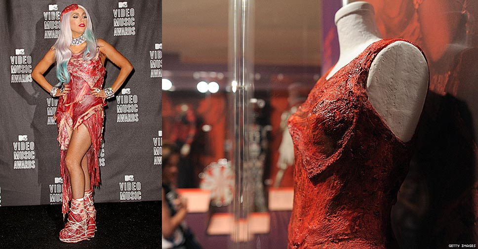 Lady Gagas Meat Dress Goes On Display At Rock And Roll Hall Of FameX968