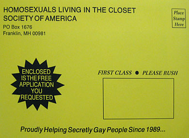 """Urban Outfitters     Hawking """"Gays in Closet"""" Envelopes"""