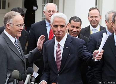 Crist Supports DADT Deal