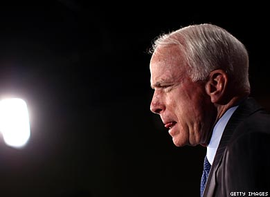 McCain Pressed on Military Outing