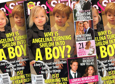 Life and Style Asks if Angelina is Making Shiloh a Boy