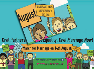 Poster for Gay March Courts Controversy