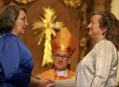 Two Lesbian Priests Tie the Knot