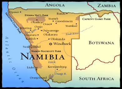 Namibia Mapx390