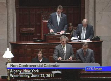 WATCH LIVE: DISCUSSION BEGINS ON SENATE FLOOR IN NEW YORK